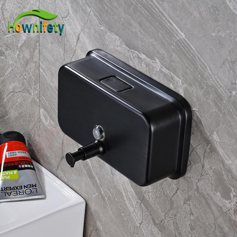 1000 ml Oil Rubbed Bronze Bathroom Soap Dispenser Wall Mounted Bathroom Hand Soap Box auswind black hand soap dispenser wall