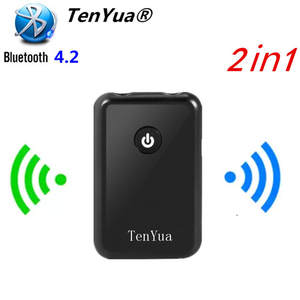 Tenyua Receiver Blutooth Tv-Speaker Audio-Transmitter Stereo 1 for 2-In-1 Connect