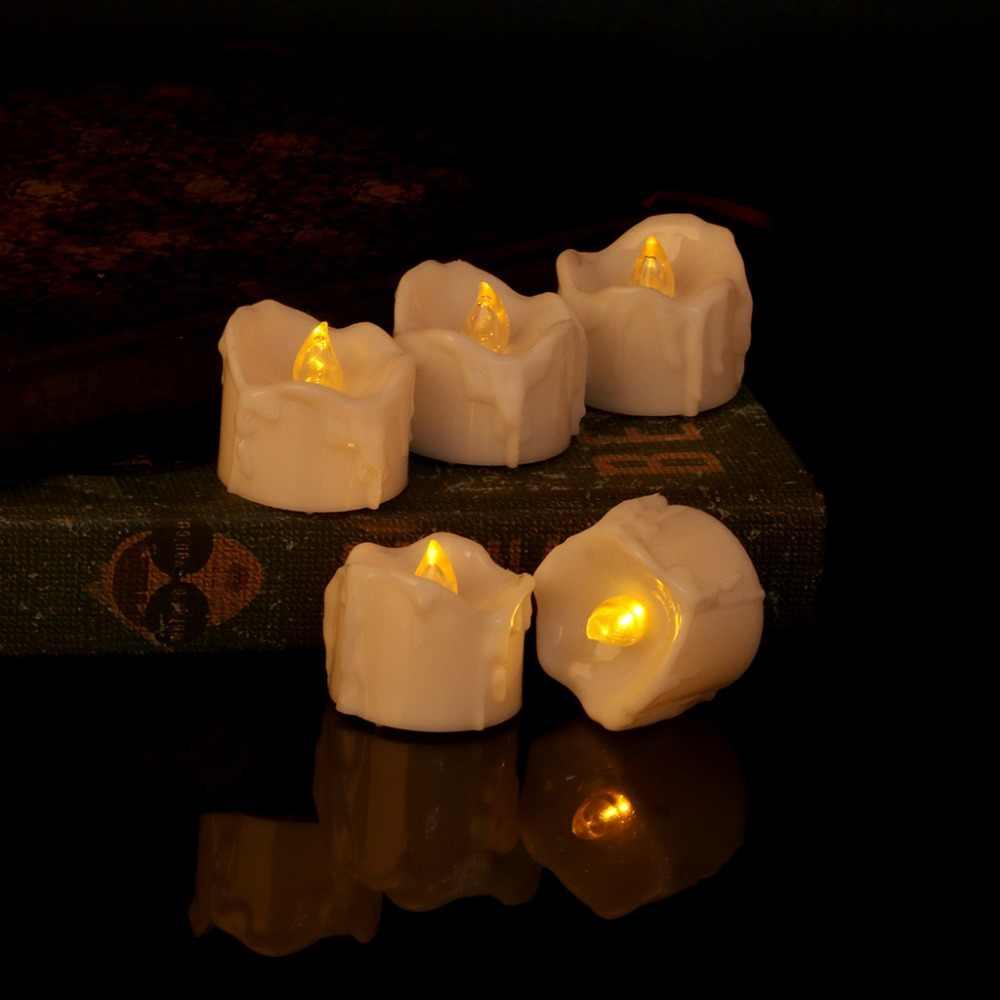 Flameless LED חשמלי נרות אור מהבהב תה אור נרות חתונת מסיבת חג מולד בית תפאורה חדש