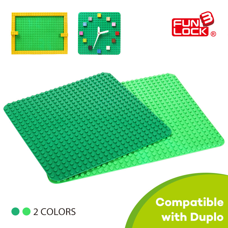 Funlock Duplo Building Blocks Brick Bottom Plate Baseboard - Mainan pembinaan - Foto 2