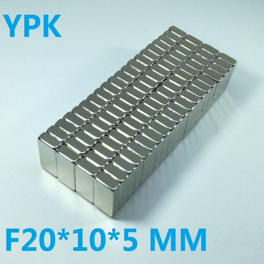 100pcs N35 Rectangular magnet f 20x10x5 mm Super Strong Neodymium magnets 20 10 5 mm NdFeB