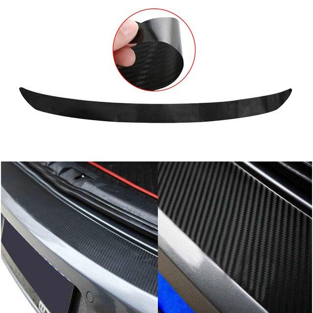 108x7 cm de fibra de carbono trasera etiqueta engomada de parachoques Trim Protector para VW Golf MK6 GTI R20 coche-estilo y calcomanías