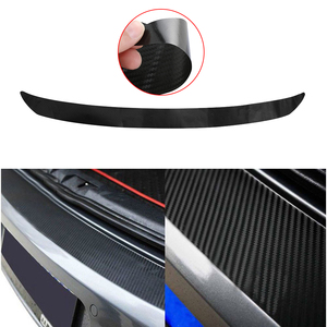 Image 1 - 108x7cm z włókna węglowego tylna naklejka na zderzak tapicerka Protector dla VW Golf MK6 GTI R20 samochód stylizacji nalepki i dekoracyjne naklejki ścienne