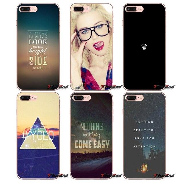 Key Swag Phrases For Sony Xperia Z Z1 Z2 Z3 Z5 compact M2 M4 M5 E3 T3 XA Aqua LG G4 G5 G3 G2 Mini Capa Mobile Phone Cases Covers
