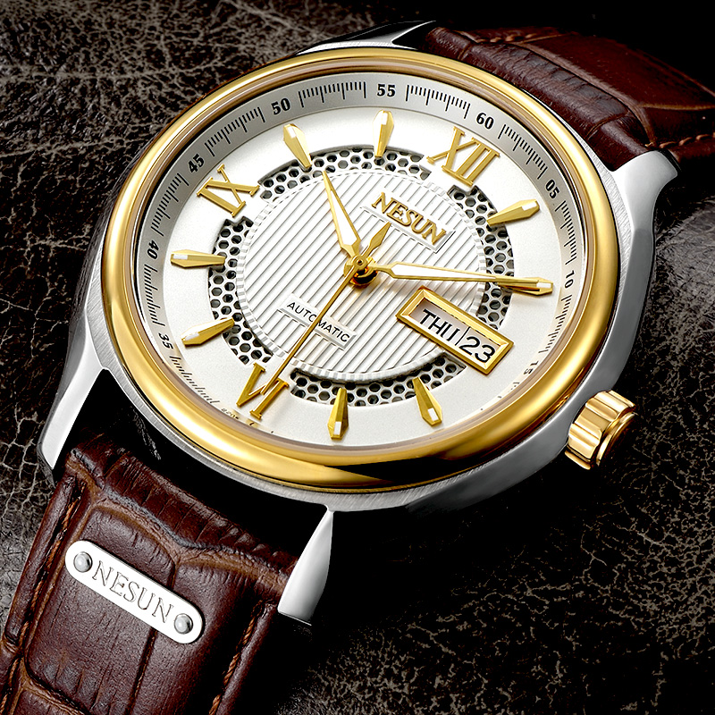 Switzerland Nesun Japan Seiko NH36A Automatic Movement Watch Men Luxury Brand Men's Watches Sapphire Genuine Leather N9205-1 [ pre sale november 11 delivery ] seiko watch seiko 5 automatic sports st aviator 24 jewels men s watch made in japan srp349j1
