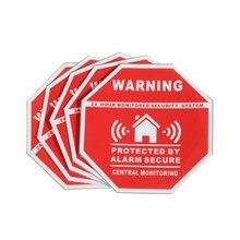 5 pces casa alarme segurança adesivos/decalques sinais para windows & portas novo