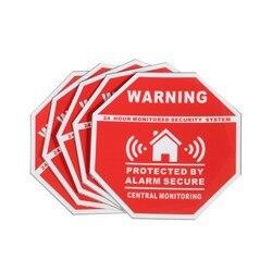 5 pièces maison alarme sécurité autocollants/décalcomanies signes pour fenêtres et portes nouveau