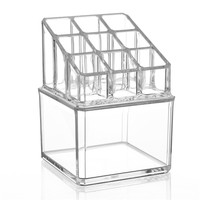 High Quality Practical Clear Cosmetic Makeup Lipstick Storage Display Stand Case Rack Holder Organizer Makeup Case