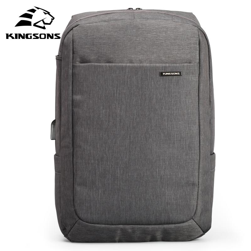 Kingsons กันกระแทก Air Cell Cushioning กระเป๋าแล็ปท็อปแท็บเล็ตกระเป๋าเป้สะพายหลังชาย & หญิง Overnighter กันน้ำ Anti   theft Mochila-ใน กระเป๋าเป้ จาก สัมภาระและกระเป๋า บน   2