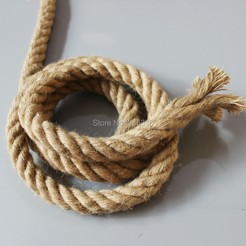 Brand new hemp rope electrical wire for hemp rope wall lamp and pendant lights 2*0.75mm copper cord in it thickness 30mm hemp