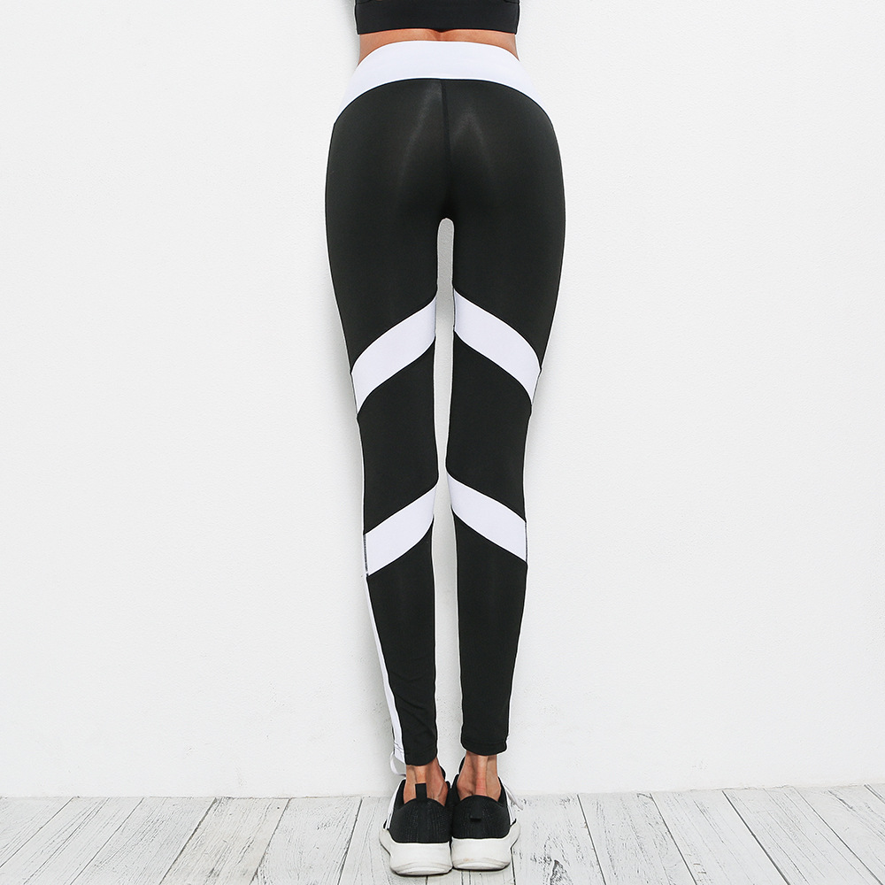 9a96a0c132d9c Yoga Pants women Tights leggings stripes Patchwork slim splice Sports  leggings Running clothes Female Fitness legging-in Yoga Pants from Sports  ...