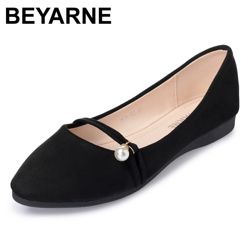 2018 Fashion Women Shoes Woman Flats high quality suede Casual Comfortable pointed toe Rubber Women Flat Shoe Hot Sale New Flats women flat sandals fashion ladies pointed toe flats shoes womens high quality ankle strap shoes leisure shoes size 34 43 pa00290