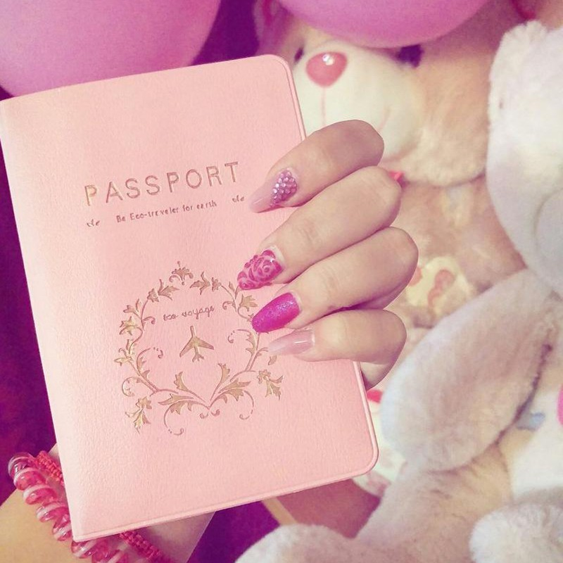 High Quality Women Cute Fashion Couples Passport Cover Travel Business Passport Holder PVC Card  ID Holders Passport Package
