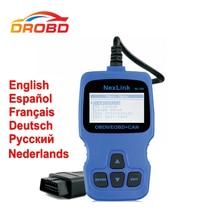 NexLink NL100 Поддержка России Двигатель Code Reader OBD2 Диагностический Сканер с O2 Sensor Test Лучше, Чем ELM327 V1.5
