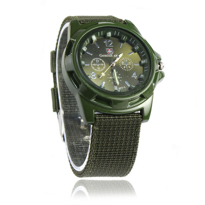 Paradise 2016 1Pc Classic Fashion Gemius Army Racing Force Military Sport Men Officer Fabric Band Watch