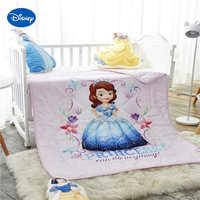 שמיכת קיץ שמיכות מצעים אופי דיסני נסיכת סופיה Wowen בד כותנה מיטת מיטת תינוק בנות מיטת 120*150 ס