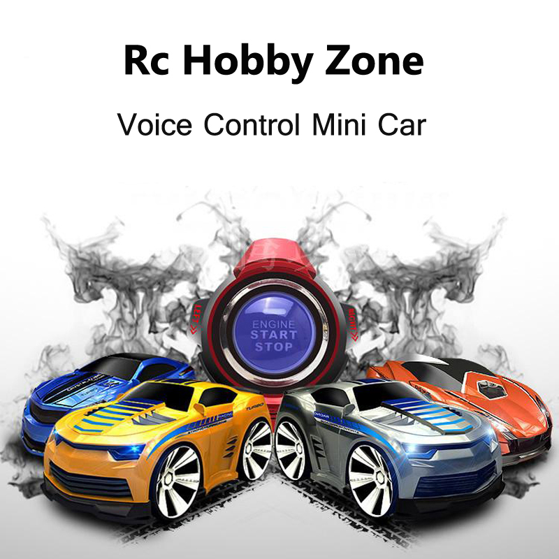 Mini 4 Channels RC Car With Smart font b Watch b font Voice Control Remote Control