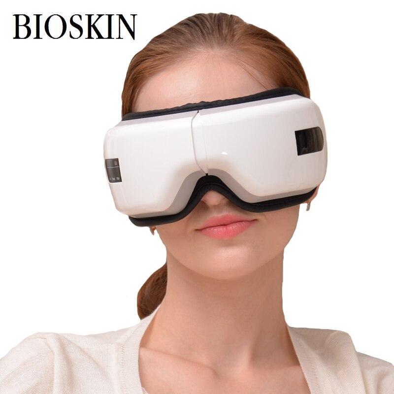 BIOSKIN Inteligente Sem Fio Recarregável Eye Massager Eye Care Saúde Máquina Dispositivo de Proteção Vibração Relaxamento Visuais de Enfermagem