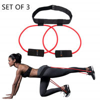 Set of 3 Booty Resistance Bands Set, Booty Exercise Belt System Butt and Leg Workout Bands Butt Lifter Tones and Sculpts Butt