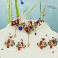 Les Nereides Flor Brinco Colar Conjuntos de Jóias Vintage Novo Da Coruja de Noite Para As Mulheres de Alta Qualidade Bom Presente