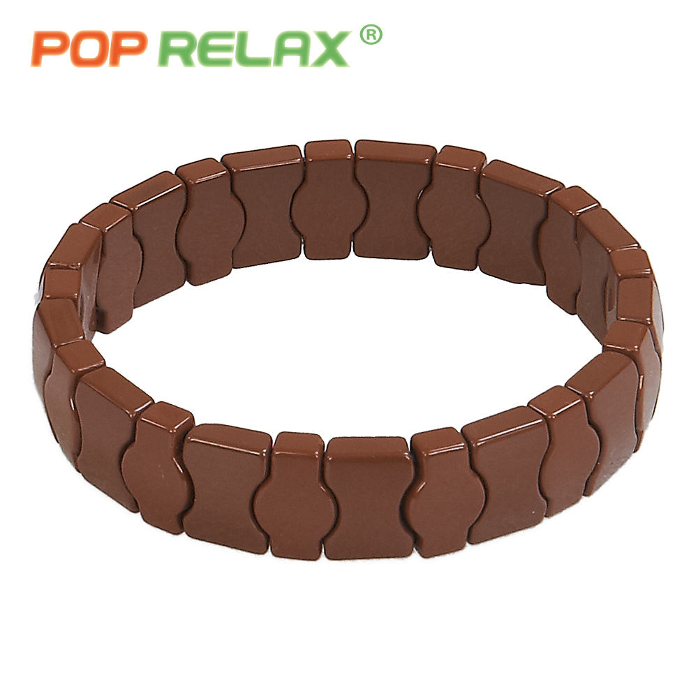 POP RELAX 6 Korea tourmaline germanium bracelets health care energy ion balance physiotherapy brown stone men bracelet for women pop relax health care tourmaline ball bracelet korea germanium stone negative ion balance energy fashion bracelets for women men