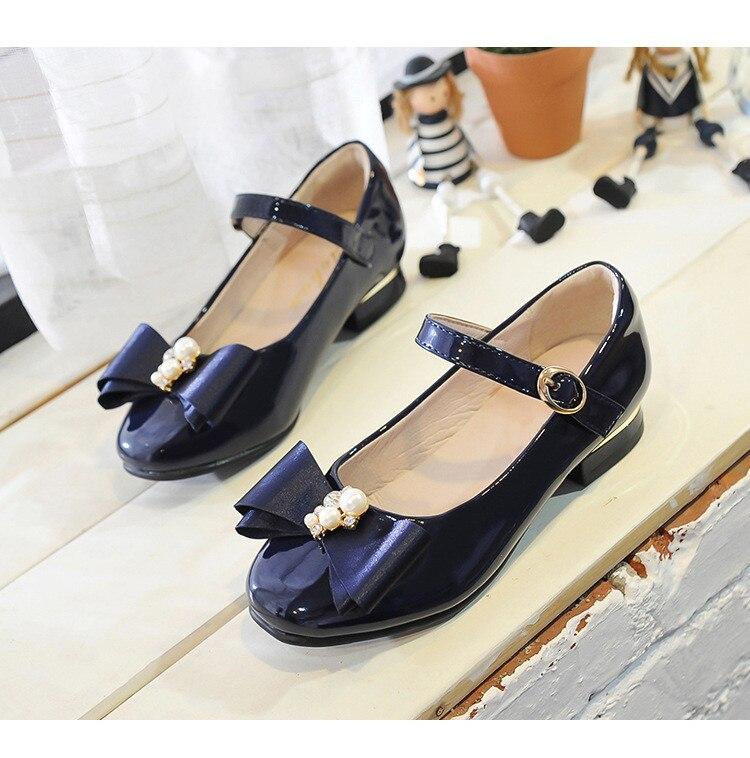 Nova Moda em Couro Sapatos de Meninas