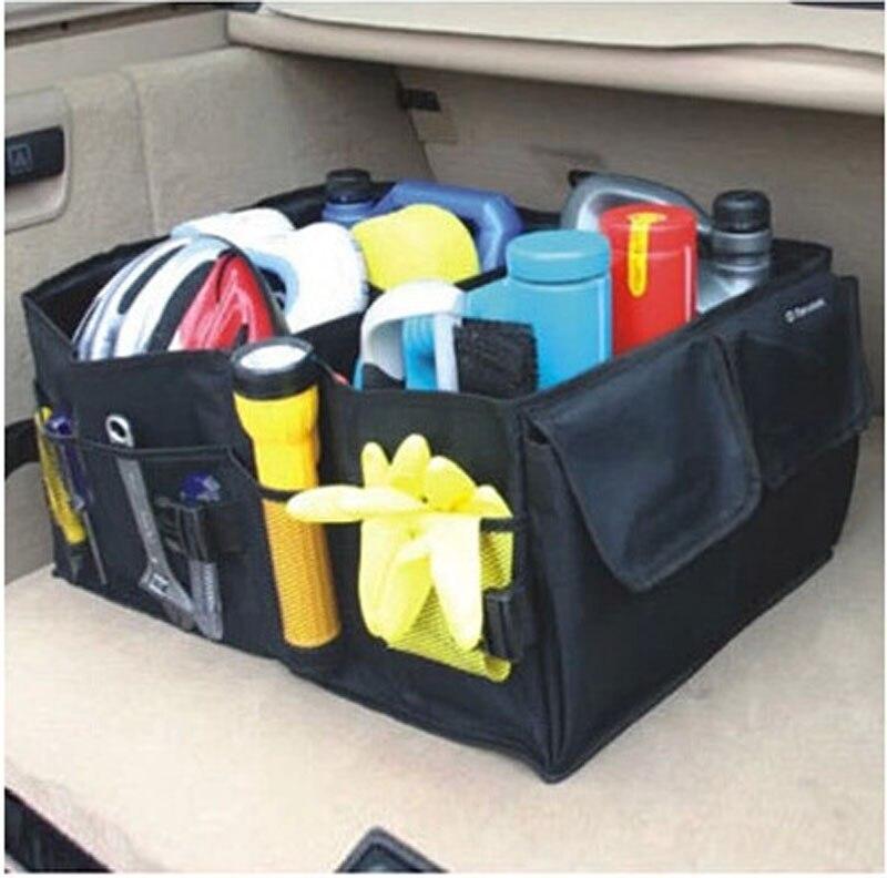 Новый высокое качество водонепроницаемые Ткань многоцелевой багажнике автомобиля Грузовой складной хранения складные коробки сумка Коро...