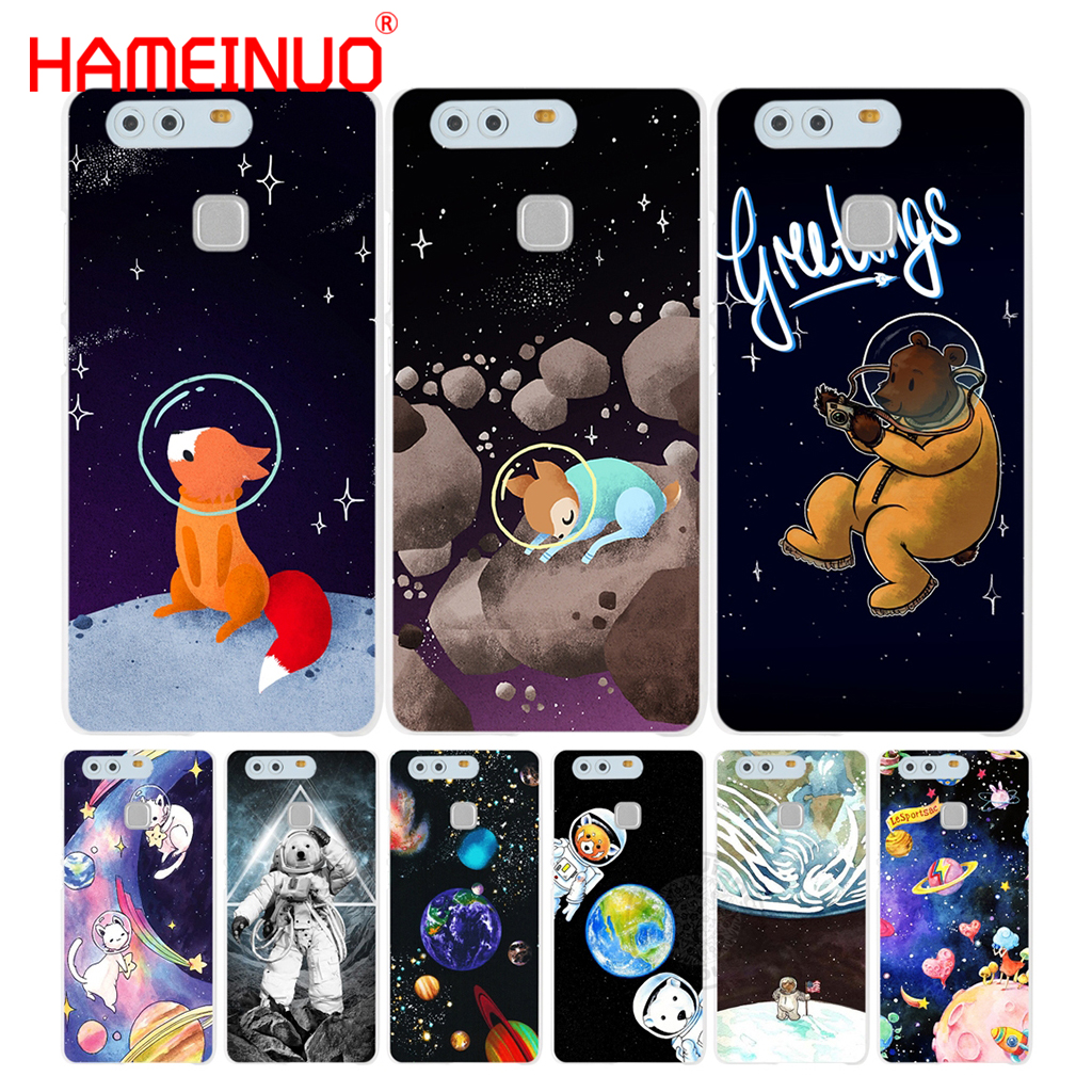 Hameinuo Space Moon Photos Cover Phone Case For Huawei Ascend P7 P8 P9 P10 Lite Plus G8 G7 Honor 5c 2017 Can Be Repeatedly Remolded. Cellphones & Telecommunications Phone Bags & Cases