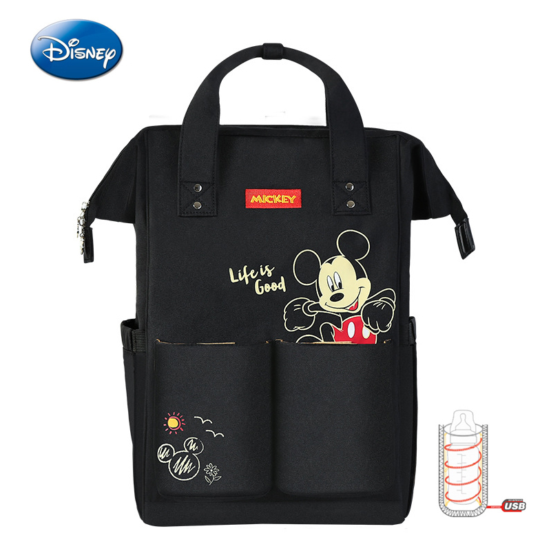 Disney Mummy Bag Fashion Insulation Bags Large Capacity Travel Backpack Multifunction Double Shoulder Backpack Baby Bottle