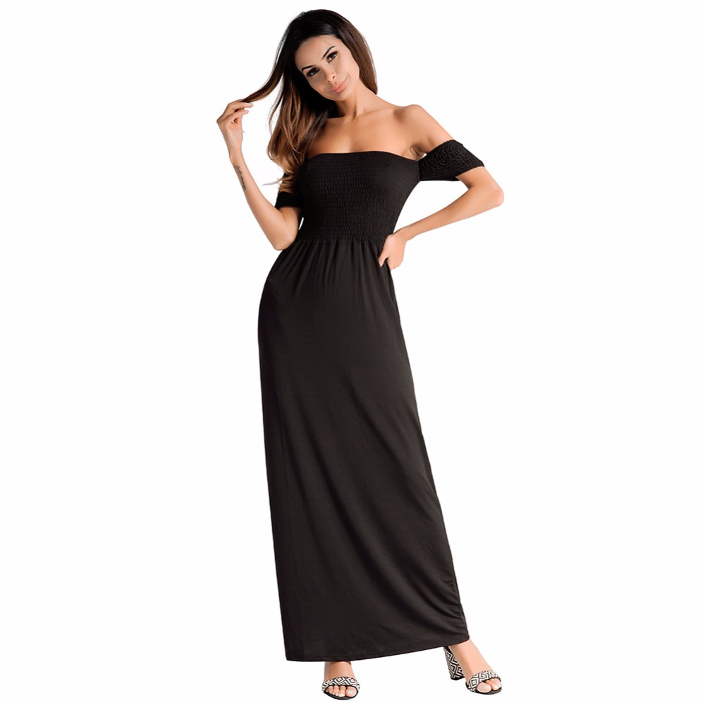 12ea529efc613 Off the Shoulder 2018 Women Dresses Sexy Elegant Party Club Bohemian Boho  Beach Ladies Plus Summer