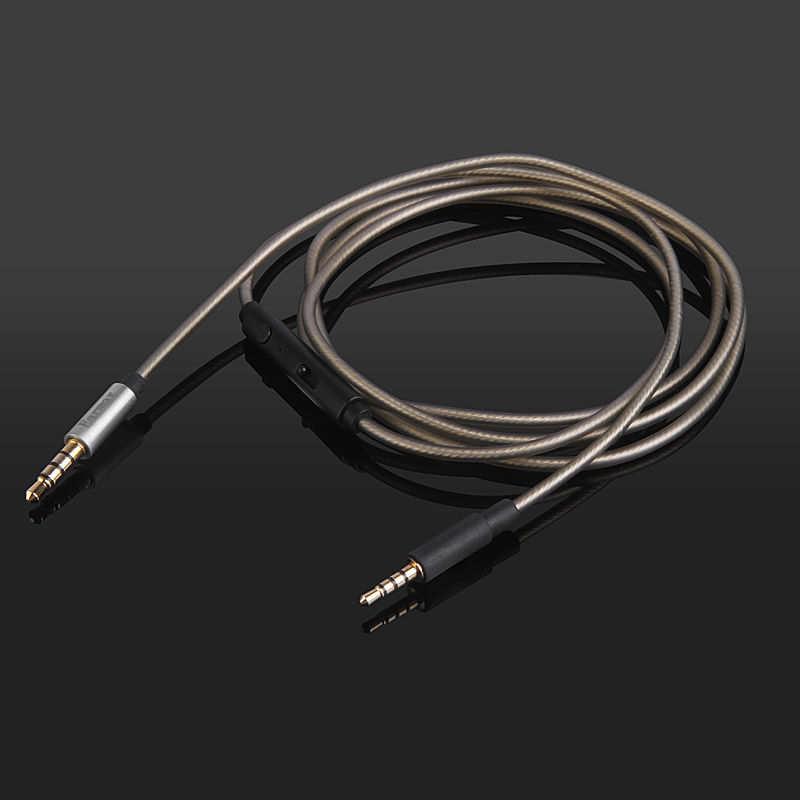 Replacement Headphone Cable Remote Mic for SENNHEISE mm400-x mm450-x mm550-x
