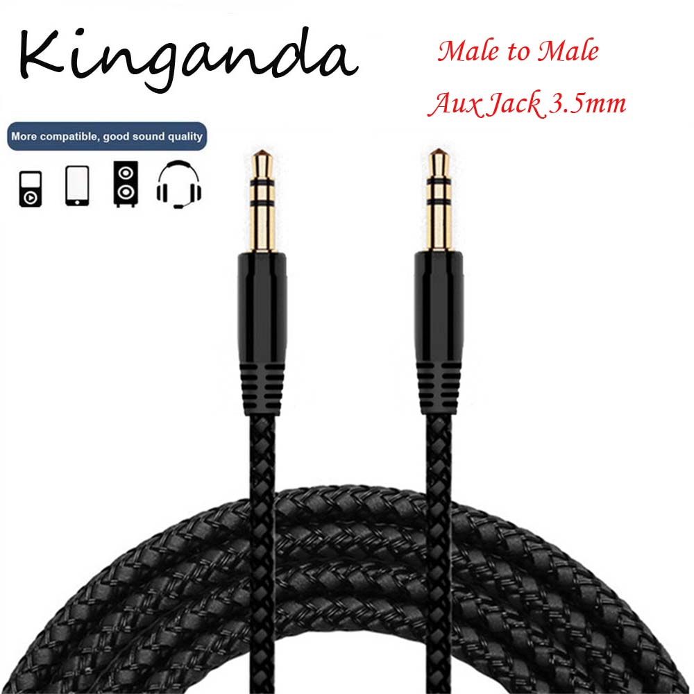 Super Resolution Gold 25FT 3.5mm AUX Male//Female Extension Stereo Audio Cord Lot