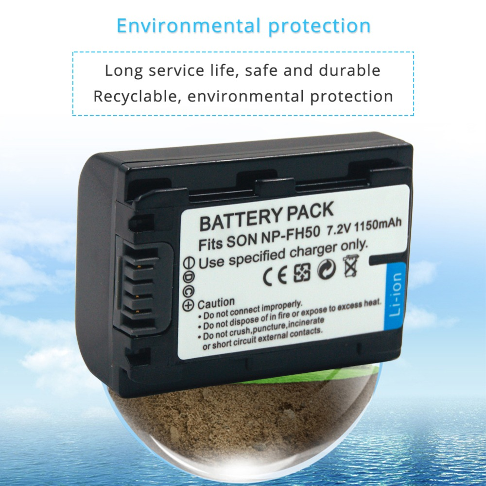 1150mAH Replacement Camcorder Li-Ion Battery for Sony NP-FH50 NP-FH40 NP-FH30