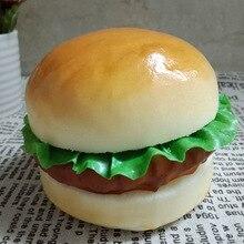 Simulation Burger Model Big Hamburger Model PU Hamburger Simulation Food Bread Decorations Props Display Figurines Miniatures