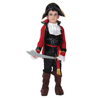 Children Boys Pirate Cosplay Costume With Hat For Kids 4 12 Years Costumes Party Up Decoration Purim Christmas Halloween
