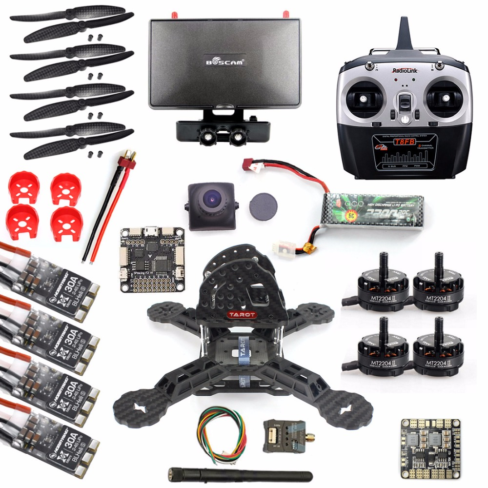 DIY RTF Racer 190 FPV Drone F3 Flight Controller Camera Radiolink T8FB  Remote control Monitor Helicopter Quadrocopter f18220 210 210mm mini quadcopter fpv racer drone rtf full set combo with nz32 racing flight control fs i6 remote green