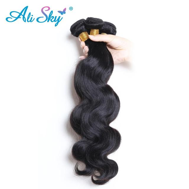 Ali Sky Hair Brazilian Body Wave Hair Weave 3 Bundles Mixed Length 8