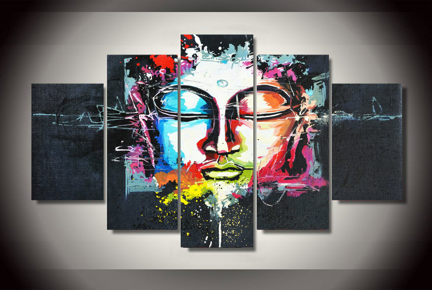 Framed Printed Buddha Painting on canvas room decoration print poster picture canvas Free shipping/jjk2681