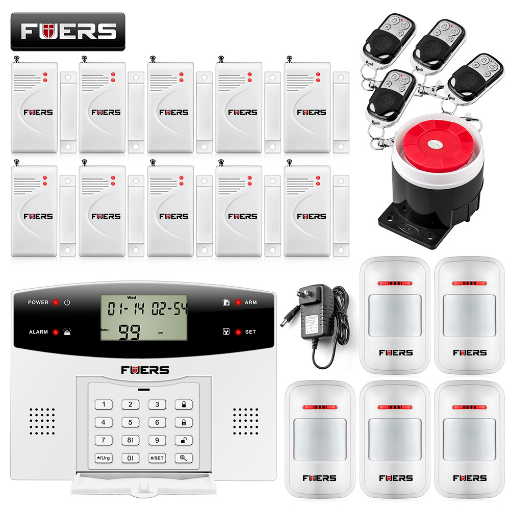 Fuers GSM PSTN Home security Alarm systems with LCD Keyboard  Wireless GSM Alarm System Remote Control Alarm Security System maurice lacroix masterpiece mp6028 ss001 002 1