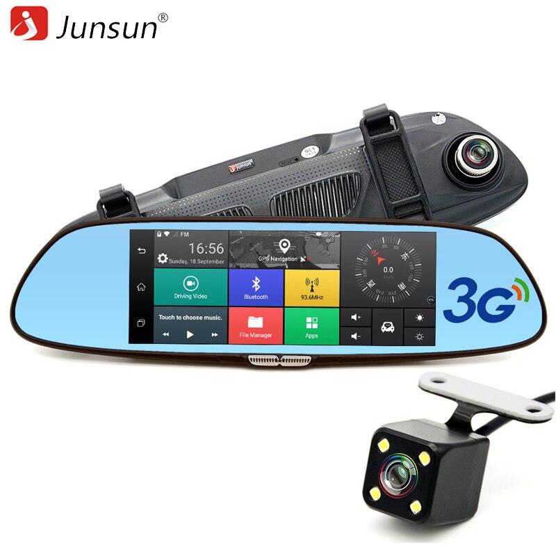 7 3G Car Camera DVR GPS Bluetooth Dual Lens Rearview Mirror Video Recorder Registrar FHD 1080P