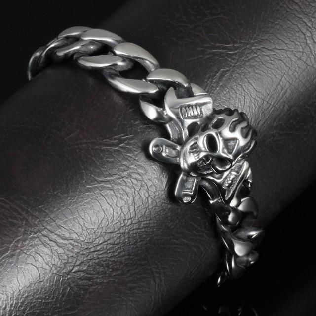 Punk Skull Stainless Steel Bracelet