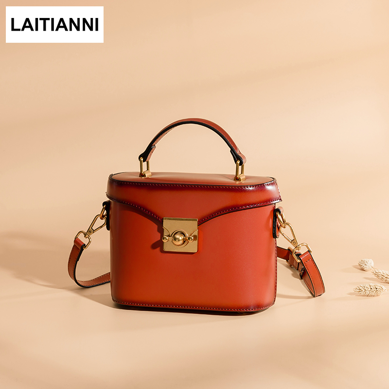 где купить Bucket Bags Female Handmade Messenger Bags 2018 Genuine Leather Handbags Brand European Style Women Crossbody Bags дешево