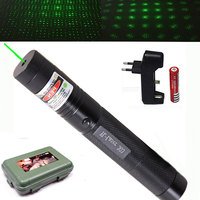 532 nm Green Laser Sight laser 303 pointer Powerful device Adjustable Focus Lazer with laser 303+charger+18650 Battery