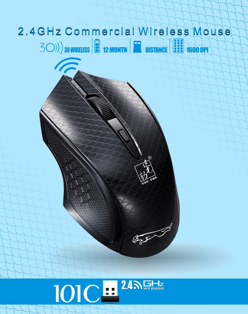 2.4G Wireless USB Human Optical Mice For Notebook Mouse Gaming Computer