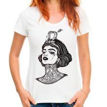 gothic snow princess cool tshirt women 2018 new white casual short sleeve o-neck femme funny t shirt(China)