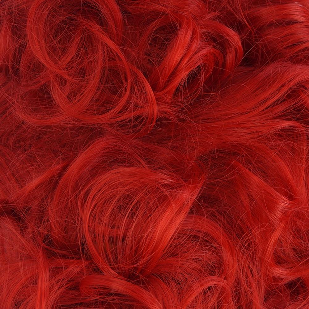 Halloween Costume Alice in Wonderland 2 Red Queen Cosplay Wig Role Play Queen of Hearts Red Hair Free Wig Cap
