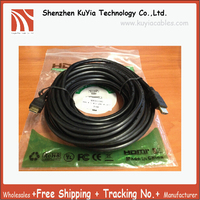 KUYiA 50ft 15M High Speed 1080P 3D HDMI Cable Male to Male HDMI 1.4 AV Cable for HDTV XBOX PS3 Free Shipping Wholesale