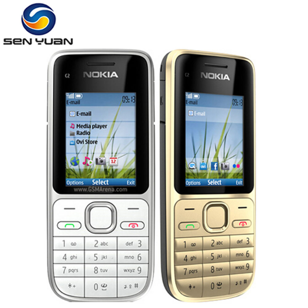 Original Nokia C2-01 Unlocked Mobile Phone C2  GSM/WCDMA 3.15MP Camera 3G Hebrew/Russian Keyboard Phone Free Shipping(China)