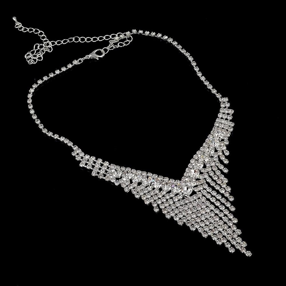 TOUCHEART Vjenčanje afrički perle nakit, kristalno srebrna boja, - Modni nakit - Foto 4