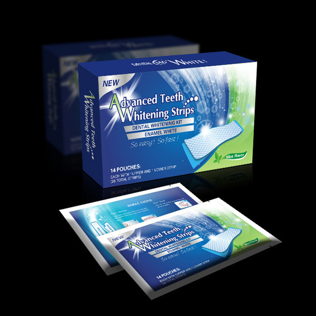 Good Selling 14pcs 7 Packs Advanced Teeth Whitening Strips 3D Ultra Gel Bleaching Tooth Whiten Teeth Oral Care Dental Hygiene